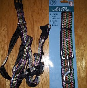 Small dog/cat matching leash and harness.
